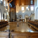 We begin our tour in the Chapel.  This is the view as you walk into the Sisters' side of the Chapel